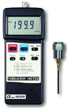 Vibration Meter Lutron VB-8200 - Click Image to Close