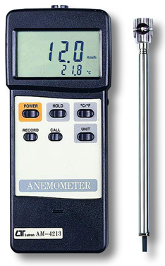 Anemometer Lutron AM-4213 - Click Image to Close