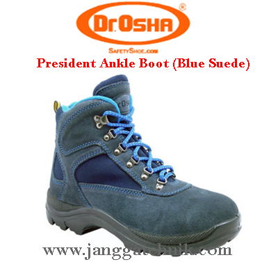 Dr.Osha President Ankle Boot (Blue Suede)